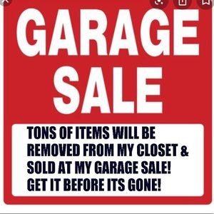 🛑GARAGE SALE ALERT🛑TONS OF ITEMS WILL BE REMOVED